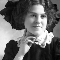 CH085/001/002/0109 Femme inconnue, 1910.